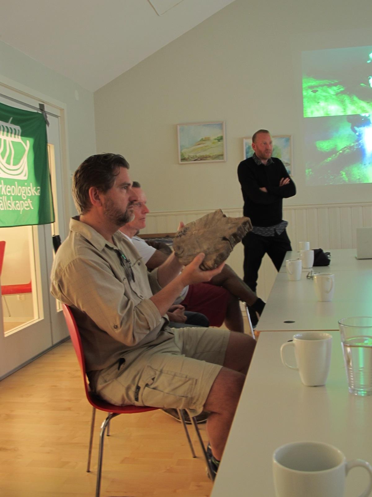 Björn Nilsson från Lunds universitet ger här deltagarna lite grundkunskaper om vilken informationstubbar kan ge.